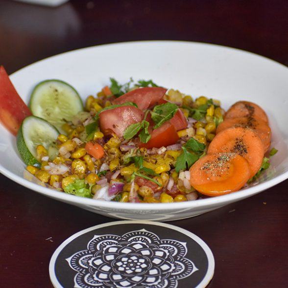 Crispy Corn Pepper Salad