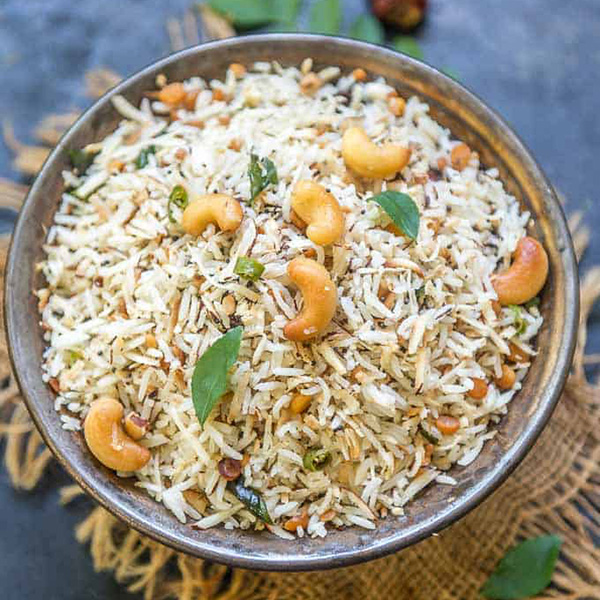 South Indian Rice (Curd/Coconut/Lemon/Tomato)