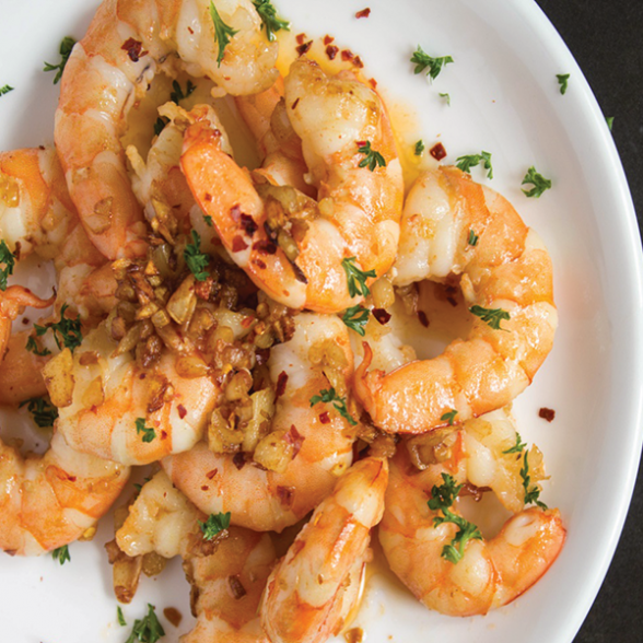 Butter Pepper Garlic Prawns