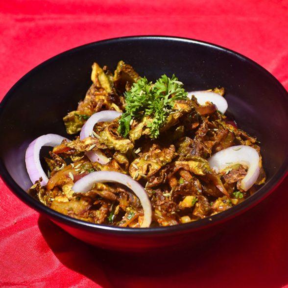 Crispy Karela Bhaji