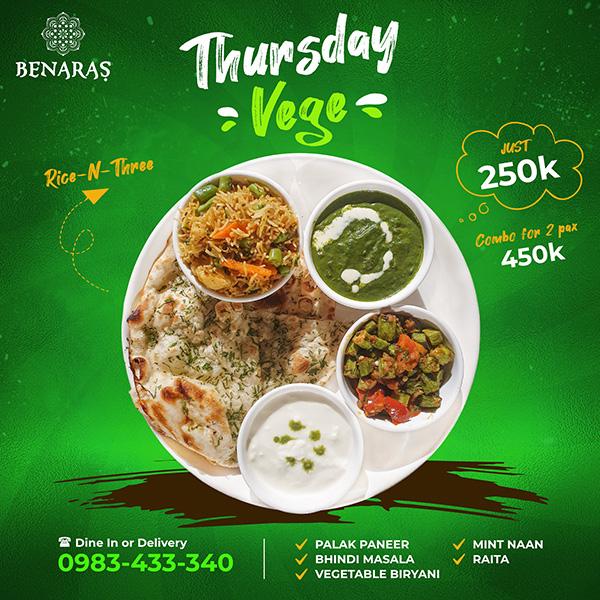 Thursday 'Veg'
